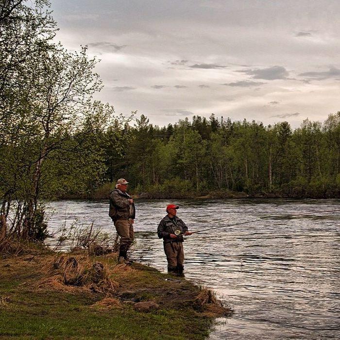 Kolapeninsula Russia North Polar  salmon flyfishing river kola morning water sky