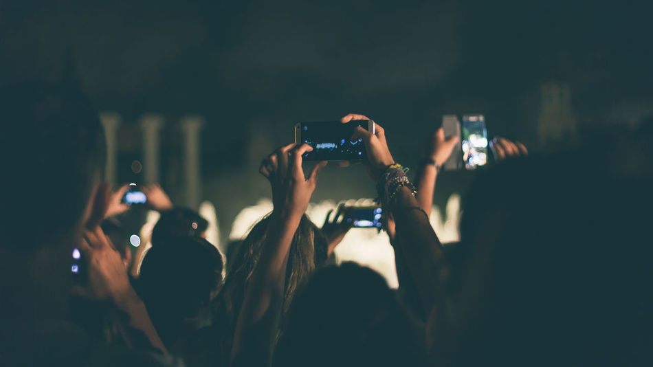Beautiful stock photos of dark,  Arts Culture And Entertainment,  Audience,  Camera Phone,  Cellphone