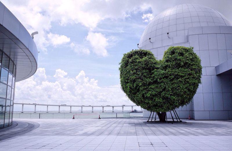 Minimalism Macau Urban Landscape Clouds And Sky Blue Sky Sky Lovers Explore Macau Seaside Macau Science Centre Heart Shape Tree Heart The Mix Up Love Yourself