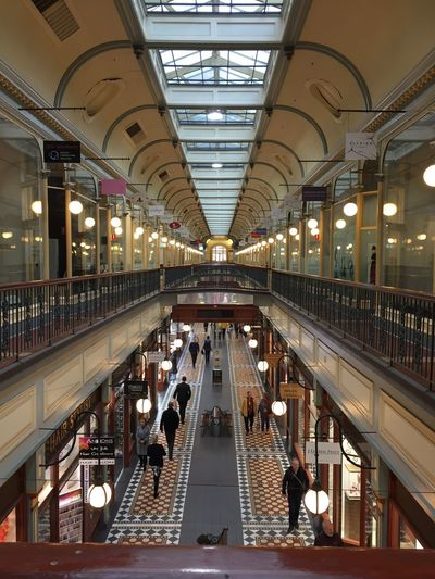 Architecture Arcade Indoors  Ceiling Built Structure Autumn Days Cityscapes