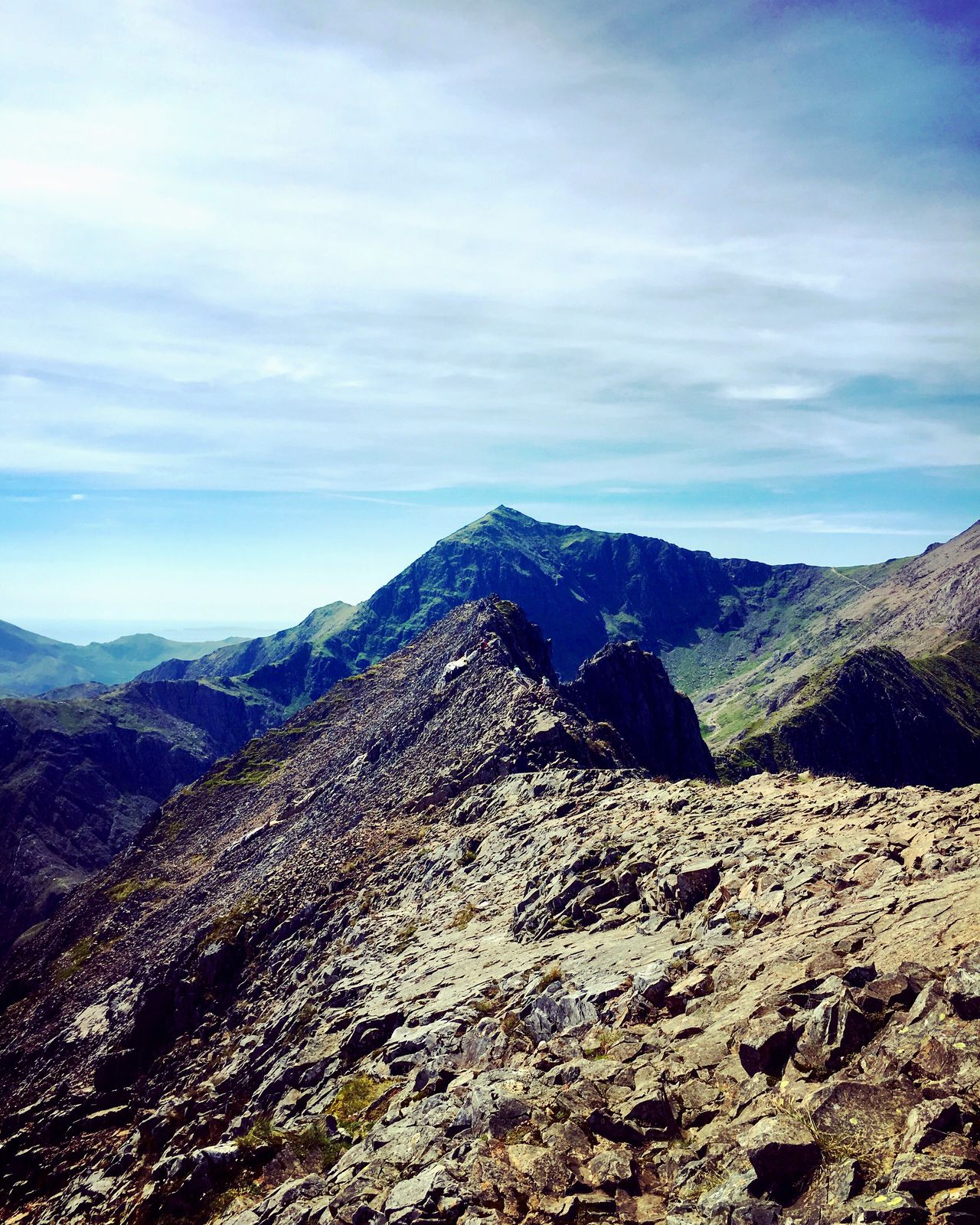Mountain Life Crib Goch Snowdonia National Park Wales Mountain Hiking Scrambling