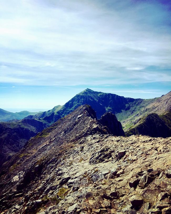 Mountain Life Crib Goch Snowdonia National Park Wales Mountain Hiking Scrambling