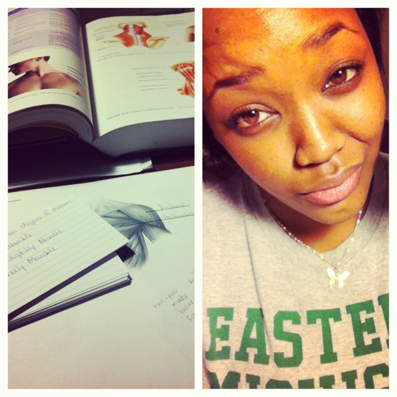 What I'm doing .... && how I feel about it Sleepyeyes Studying A &P Picstitch