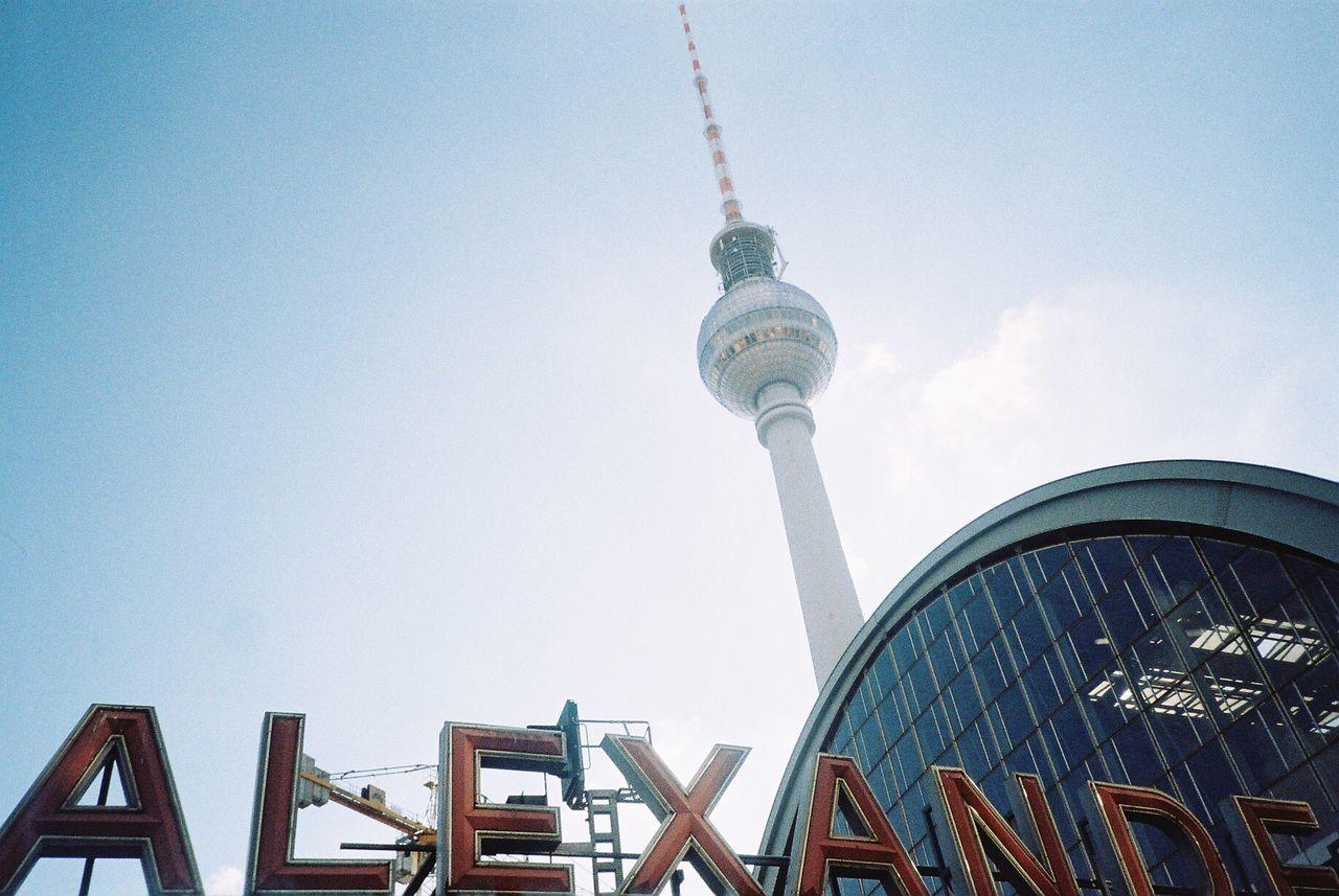 Tv Tower With Alexander Platz Railway Station
