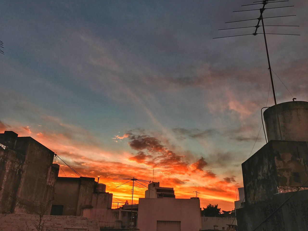 Building Exterior Sky Built Structure Architecture Sunset Cloud - Sky City Outdoors No People Nature Day Cityscapes Cityscapes_collection Terraza From The Window HDR Hdr_Collection