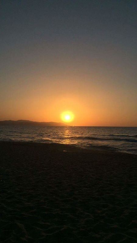 Sunset Skikda Algeria Beach Vacation Sun Relax Sand Beautiful Nature
