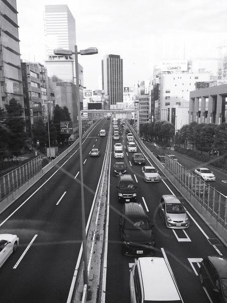 motor way Shibuya Tokyo B&w Pmg_tok