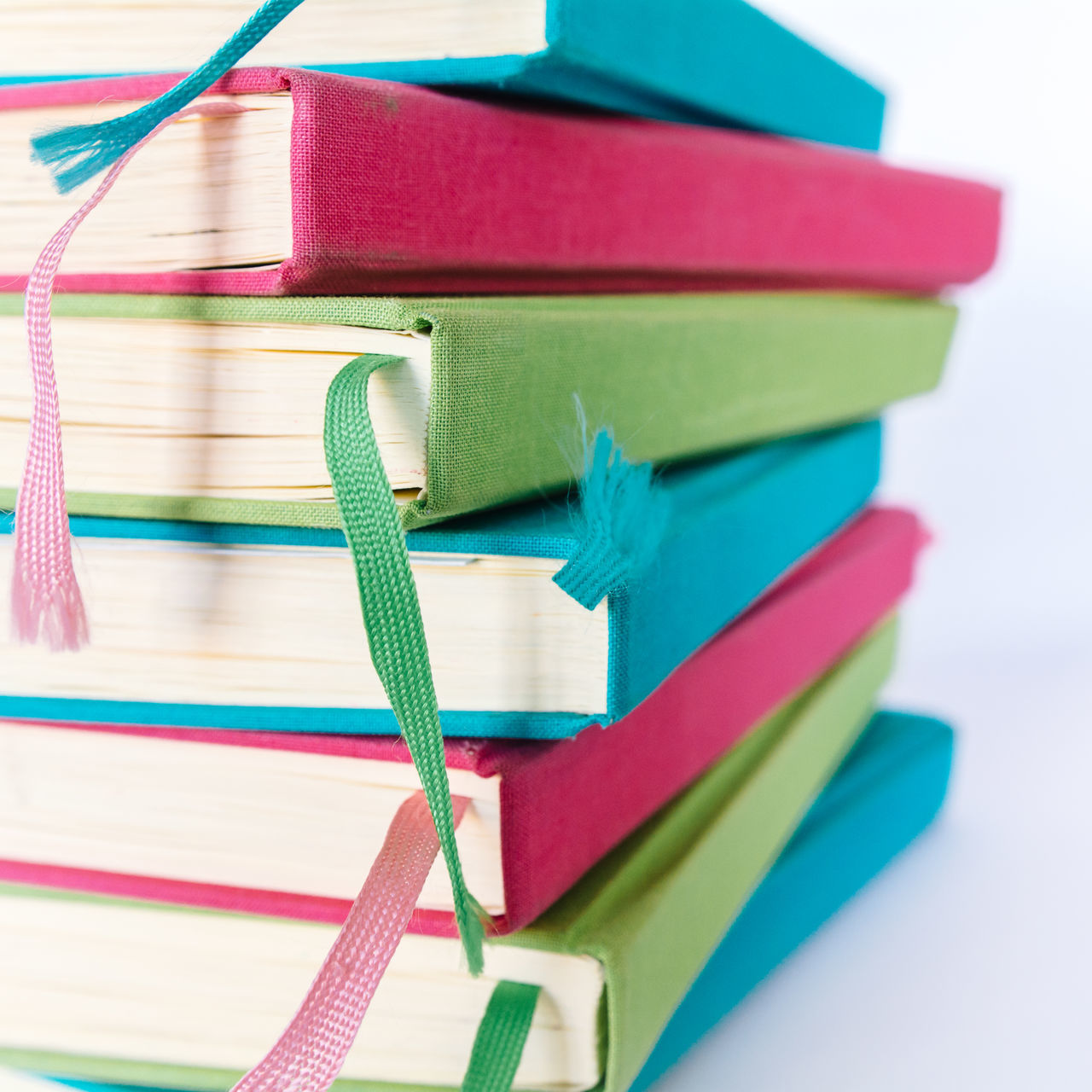 Colorful Books Blue Books Close-up Colorful Colors Cyan Education Educational Green Green Color Group Of Objects Learning LearningEveryday No People Pink Pink Color Reading Reading Books Reading Time Study Hard Study Time Studying White Background