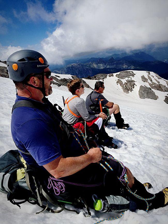 Relaxing Altitude Mountaineering Interglacier Climbing A Mountain