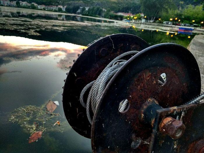 Lake Rusted Rope Focused Beautiful Day :)