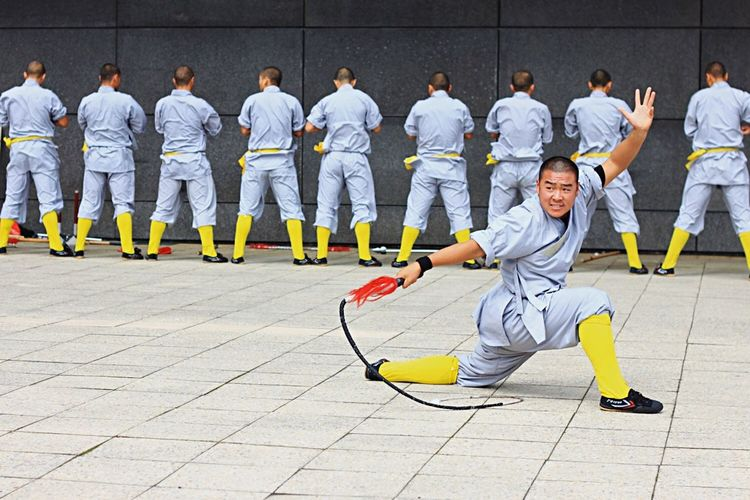 Monks Teamwork Adults Only Men Full Length Competition Adult People Sport Sports Race Outdoors Only Men Sports Clothing Competitive Sport Day Shaolin Monks Te Papa