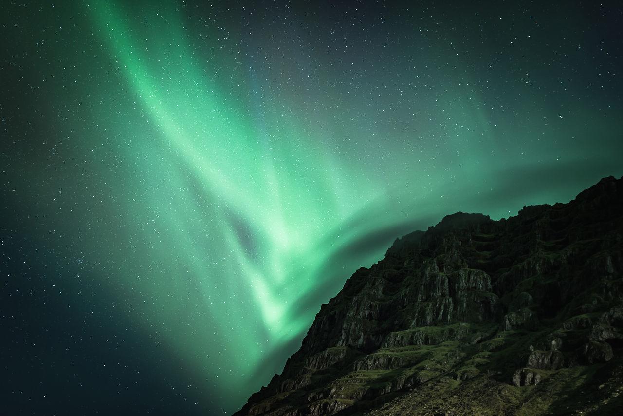 Astronomy Astrophotography Aurora Borealis EyeEm Best Shots EyeEm Gallery EyeEm Nature Lover Iceland Landscape Mountain Night Northern Lights Photography Photooftheday Scenics Sky Space And Astronomy Stars