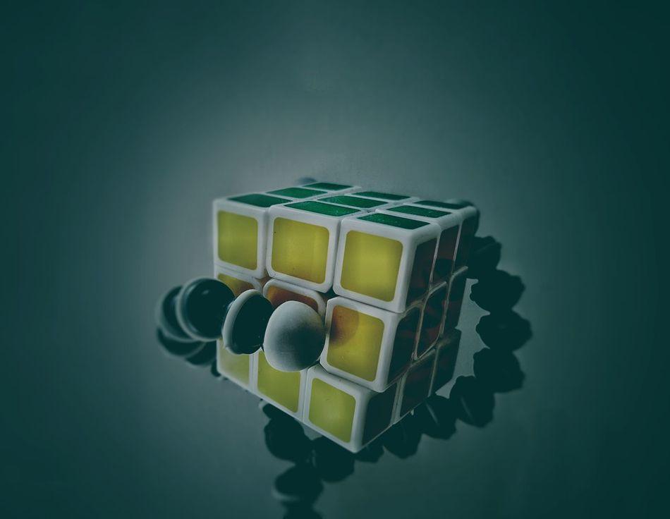 Close-up Puzzle  Rubik's Cube Cube Colours Monster Surrealism