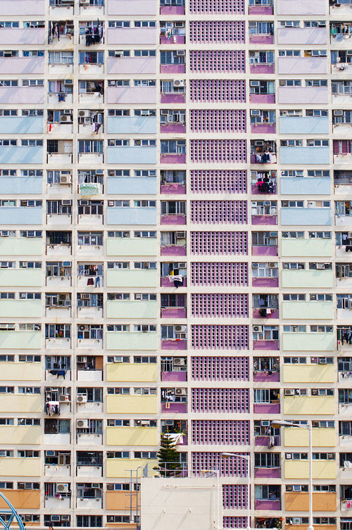 Architecture Building Exterior Choi Hung Estate City Life Color Day Hong Kong City In A Row Neiborhood No People Rainbow Rainbow Colors Urban Variation