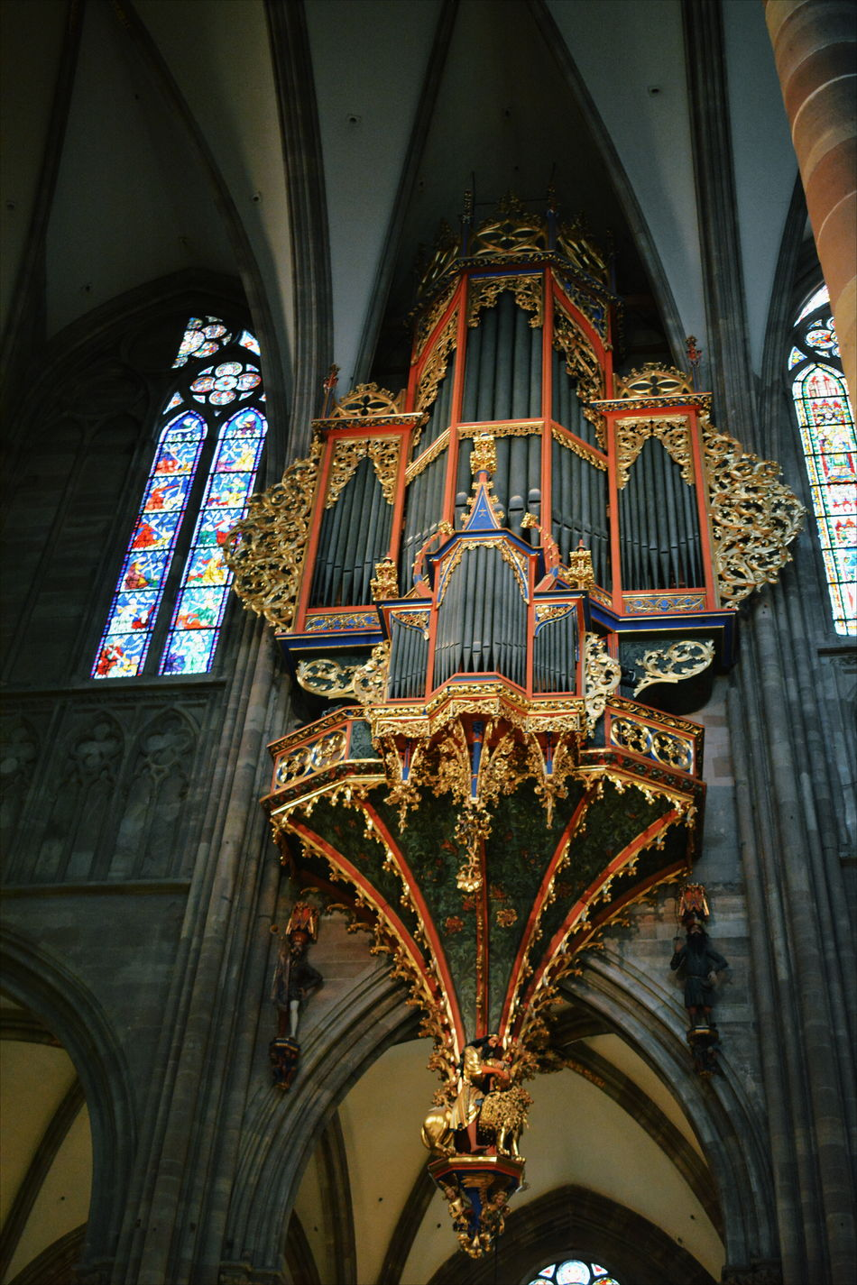 Architecture Built Structure Cathedral Church Day Gold Indoors  Instrument Low Angle View Music No People Old Organ Ornate Place Of Worship Religion Stained Glass Window Travel Destinations Art Is Everywhere