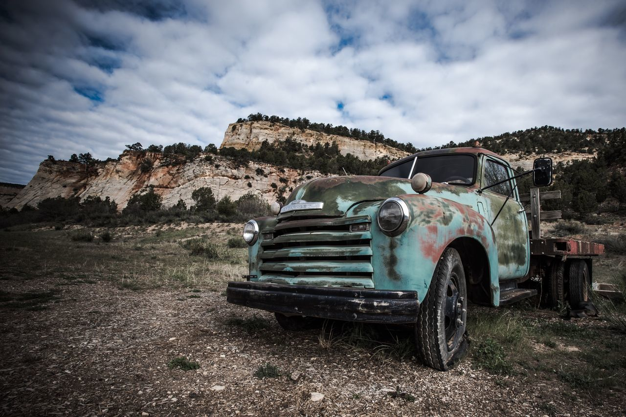 Still standing America Truck Automobile Sky Transportation Cloud - Sky Land Vehicle Mode Of Transport Day Outdoors Landscape Nature No People