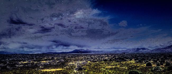High Desert Nevada Filter Madness Desert Beauty Great Outdoors - 2016 EyeEm Awards Desert Life No People Desert Landscape Traveling Valley View Hills And Valleys Filter Fun Wall Decor Poster Night View Blue Yellow Stars Night Colors Night_collection