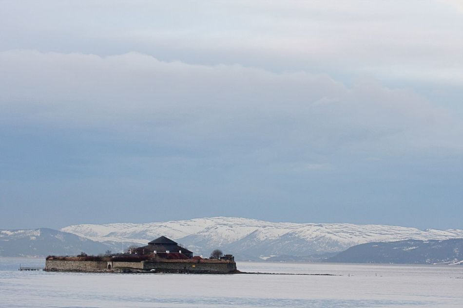 Architecture Cloud - Sky Cold Temperature Day Fortress Fortress Island Munkholmen No People Outdoors Sky Snow Winter