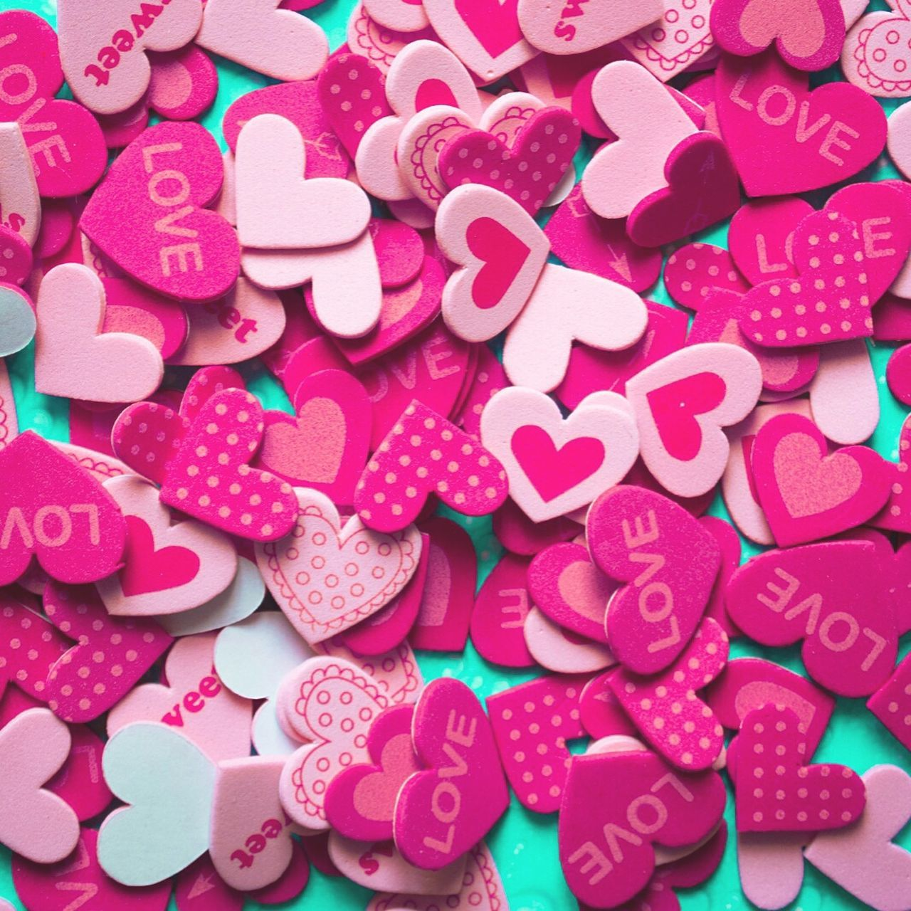 Love Lovely Valentine's Day  Valentine Heart Hearts Pink Colors Full Frame Pattern Light Enjoying Life Imperfection Is Beauty Hello World Showcase July Taking Photos Close Up Pattern, Texture, Shape And Form Words Art Point Of View Nopeople Sweet Pink Hearts Beautiful