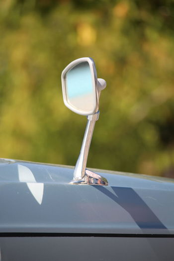 Close-up Single Object Focus On Foreground No People Macro American Cars Car Transportation Reflection Retrovisor Mode Of Transport Outdoors Vintage Car France Part Of Lapenche France Selective Focus Side-view Mirror