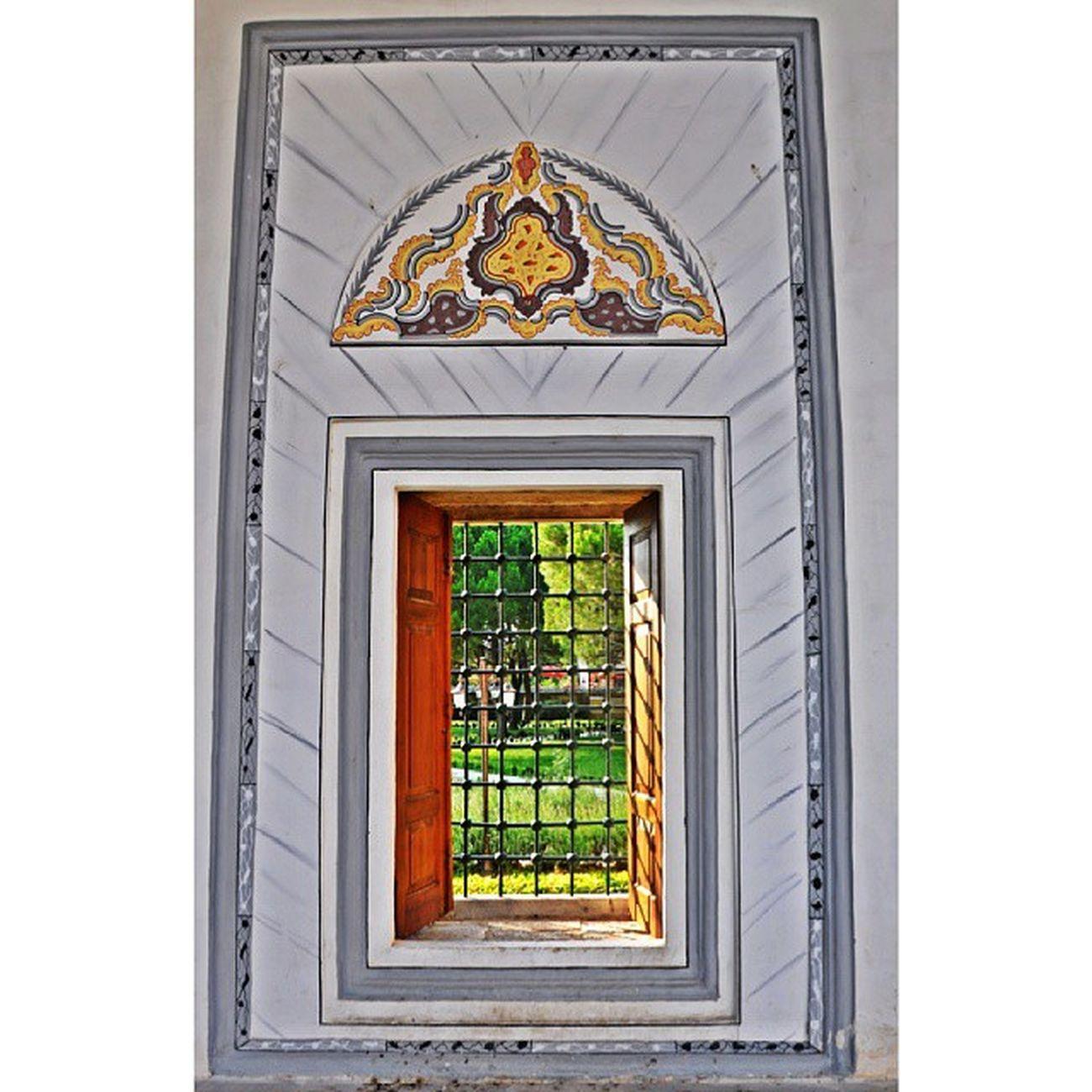 Pencere Window Selimiye Edirne city green camii mosque