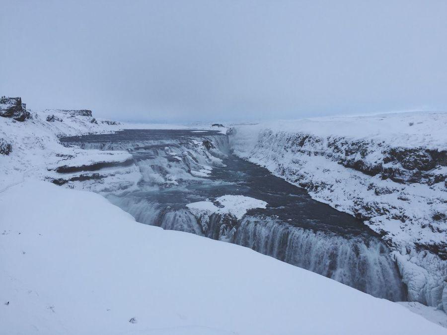 Iceland Gullfoss Gullfoss Falls Winter Goldencircle Goldencircletour February Snow Silence First Eyeem Photo