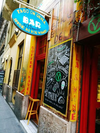 Food And Drink Bar Night Life. Mexican Best Food Ever City Life Street Restaurant Pub