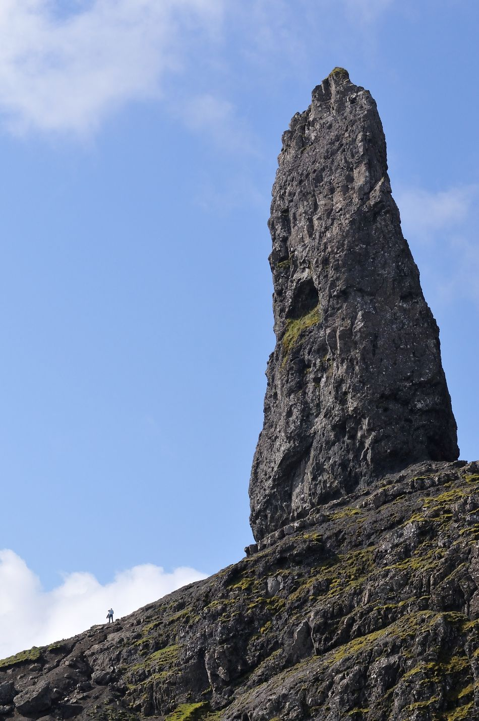 The Old Man of Storr, Isle of Skye Beauty In Nature Blue Geology Highlands Low Angle View Mountain Non-urban Scene Outdoors Remote Rock Rock - Object Rock Formation Rocky Mountains Scotland Sky Skye Storr