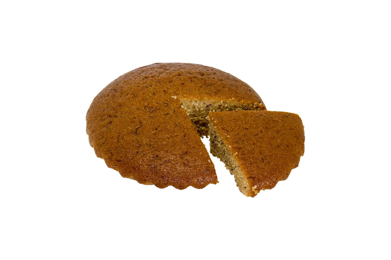 One banana cake and cut out isolated on white background. Clipping path. Bread Close-up Cut Out Food Food And Drink Freshness Healthy Eating No People Ready-to-eat Studio Shot White Background