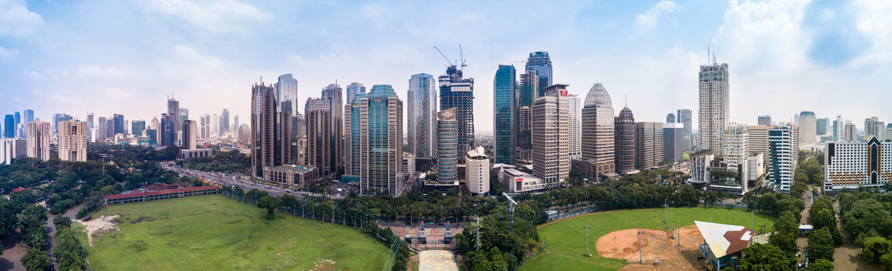 CBD Central Business District Downtown Drone  Dronephotography EyeEm Jakarta INDONESIA Jakarta Panorama Sky And Clouds Skyline Southeastasia