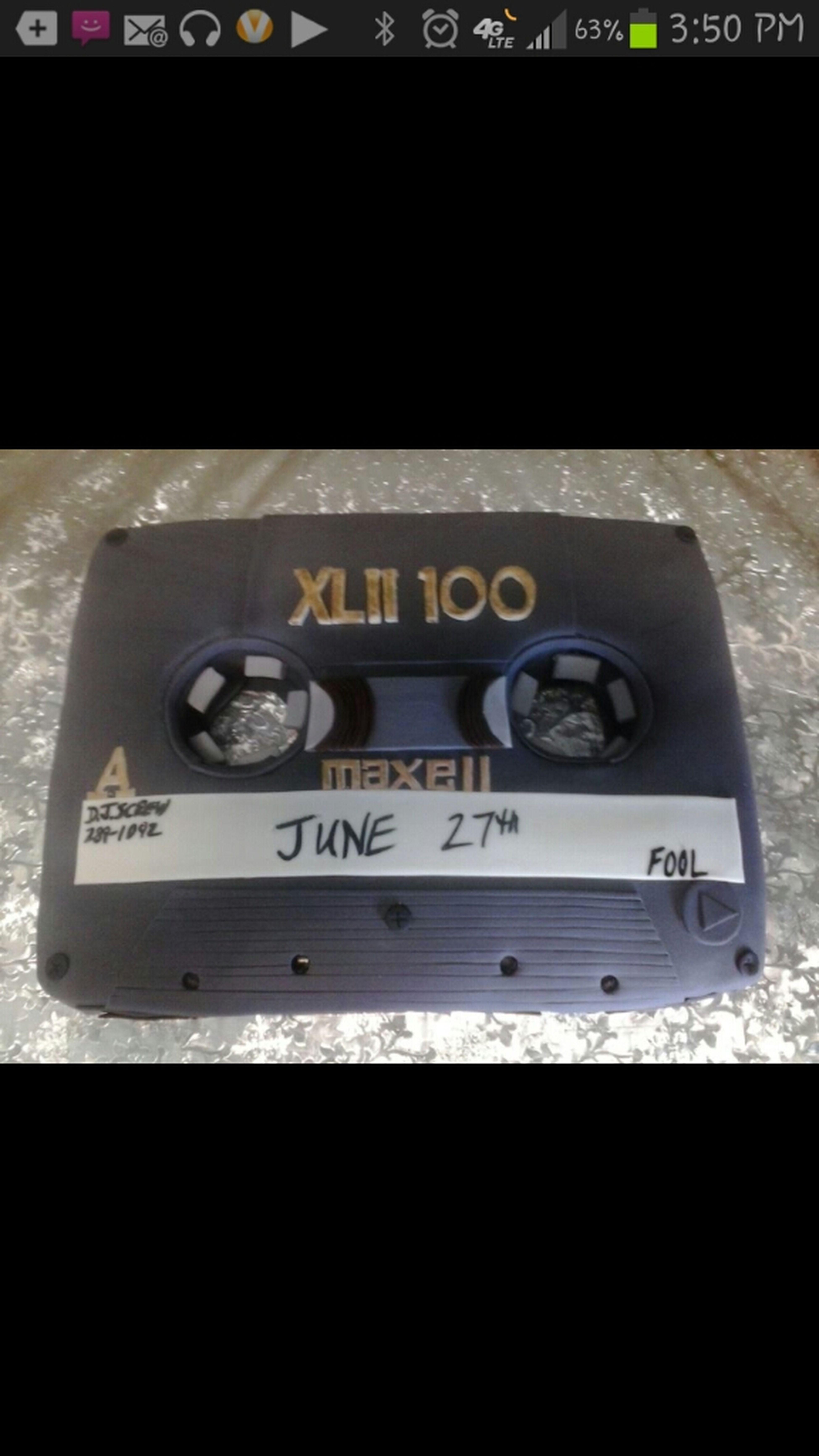 June 27th Tape Cake......