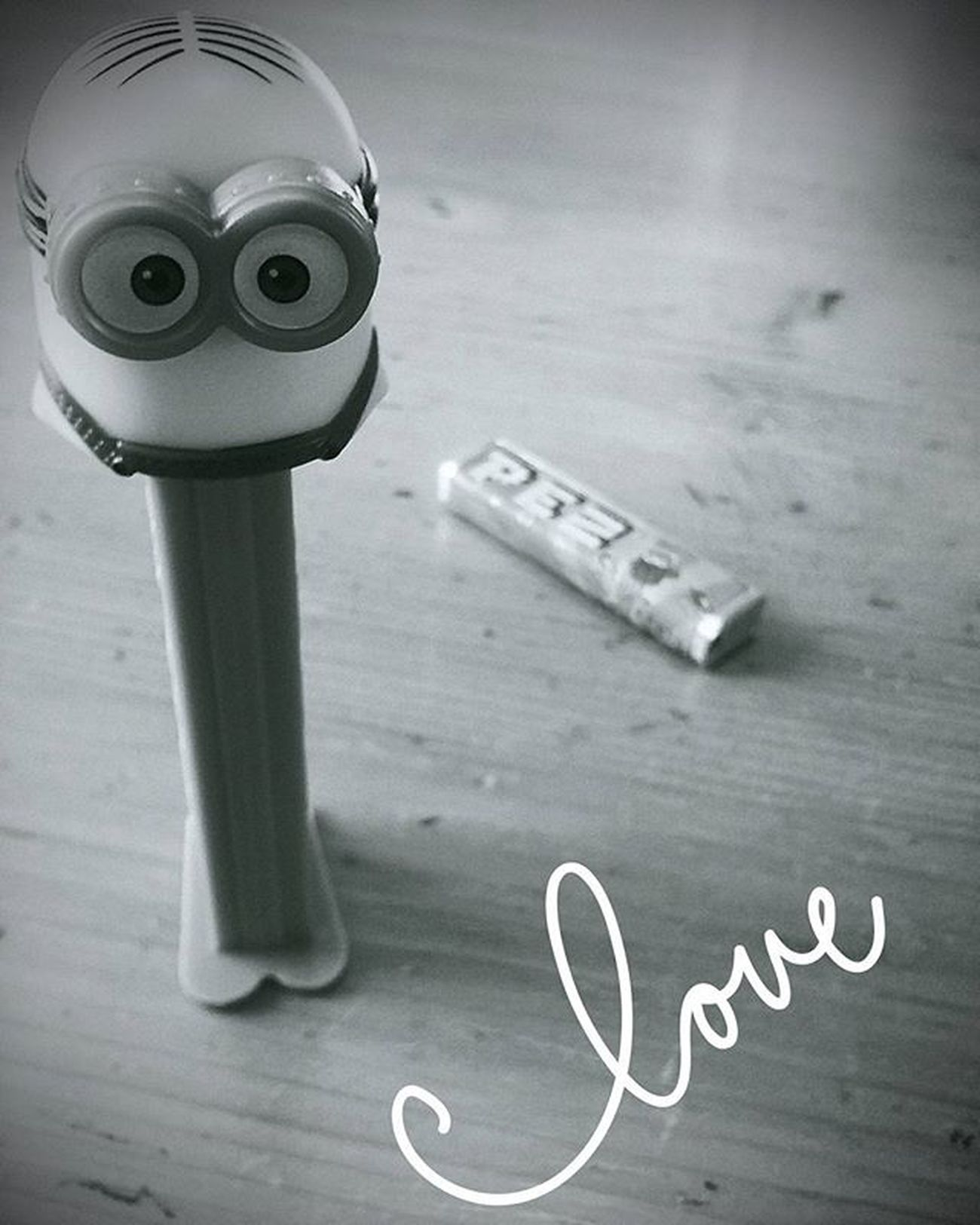 Toy Fun PEZ Candy Minion  Love Gift Minionlive Play Childish NeverGrowUp Bw Blackandwhite New Now