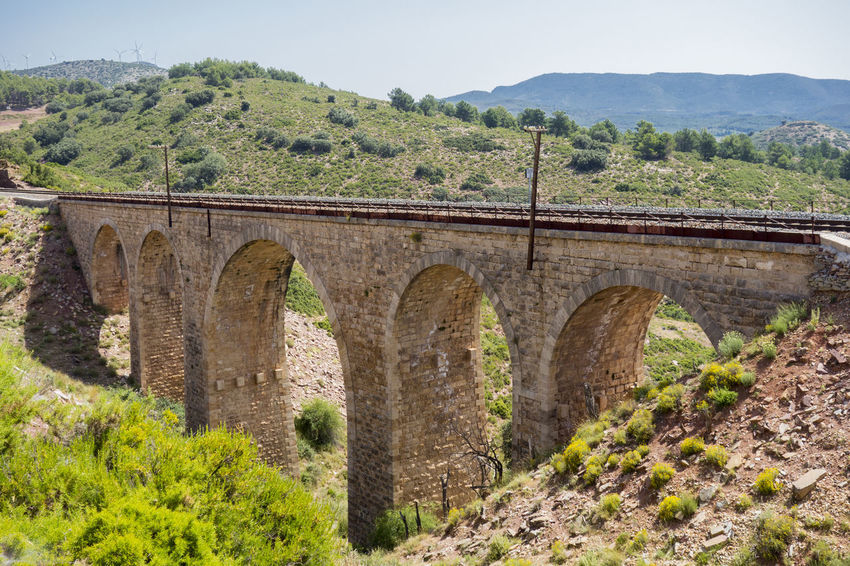 Arch Arch Bridge Architecture Barracas Bridge - Man Made Structure Built Structure Castellón Clear Sky Connection Day Growth Landscape Mountain Nature No People Outdoors Scenics Sky Transportation Tree Viaduct