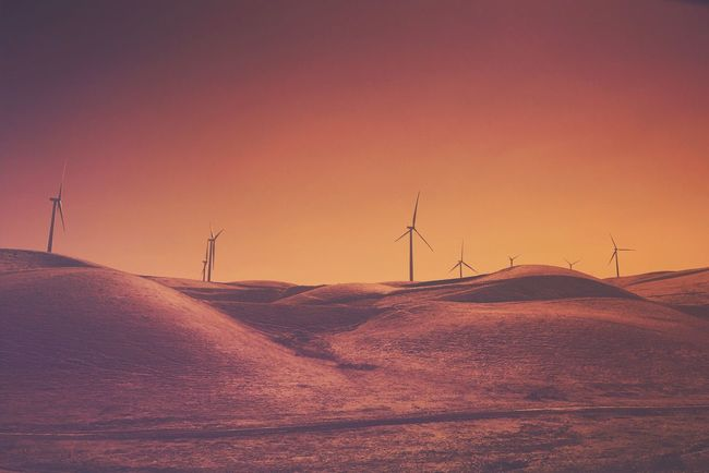 Alternative Energy Wind Power Wind Turbine Fuel And Power Generation Environmental Conservation Renewable Energy Windmill Nature Sunset Rural Scene No People Technology Landscape Electricity  Beauty In Nature Tranquility Tranquil Scene Outdoors Sky Industrial Windmill California