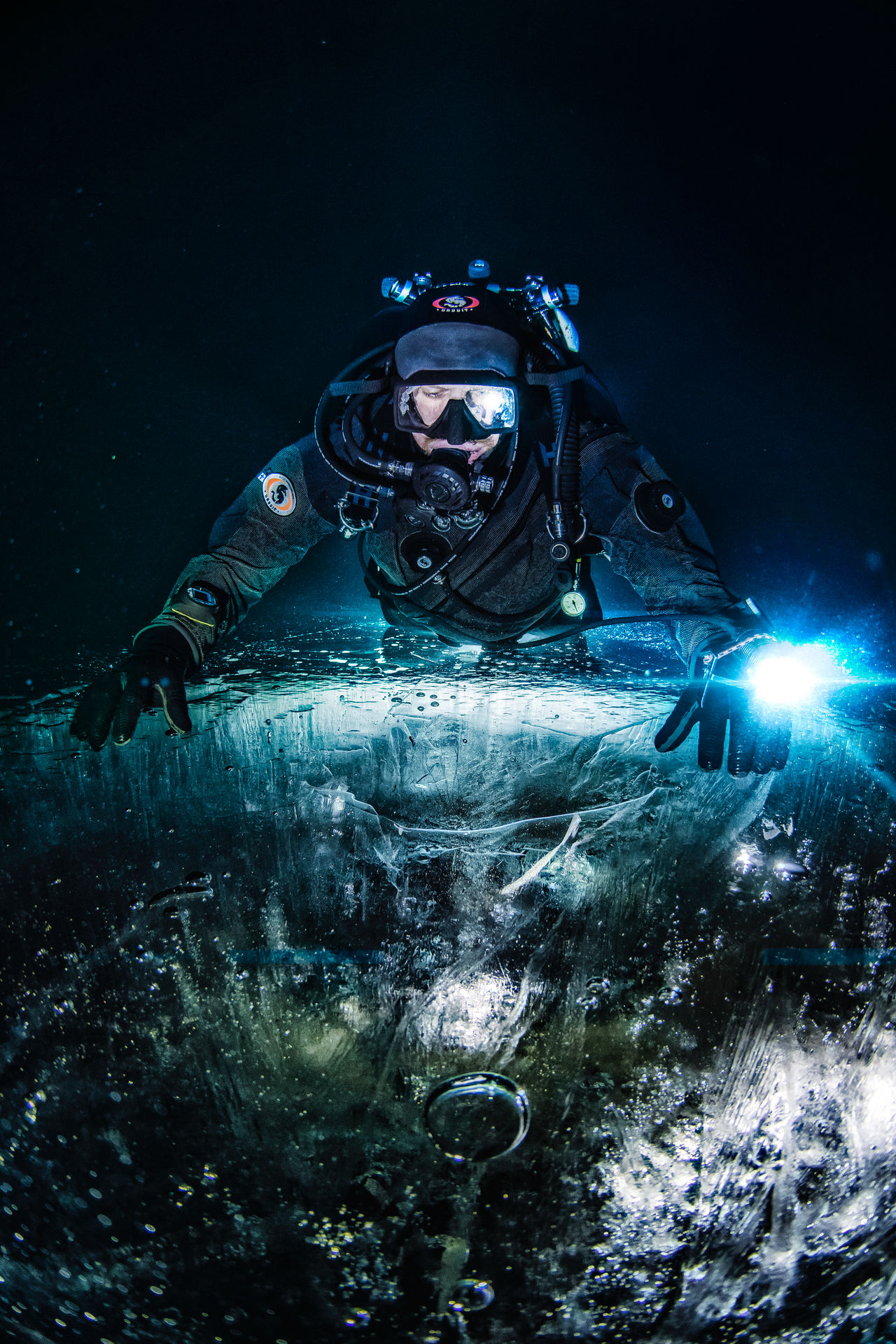Other side of the Frozen Lake Abstract Cold Dive Diver Diving Diving Equipment Drysuit Equipment Frozen Ice Lake Landscape Nature Ocean Reflection SCUBA Scuba Diver Scuba Diving Scuba Gear Scubadiving Sea Underwater Water Water Reflections Winter