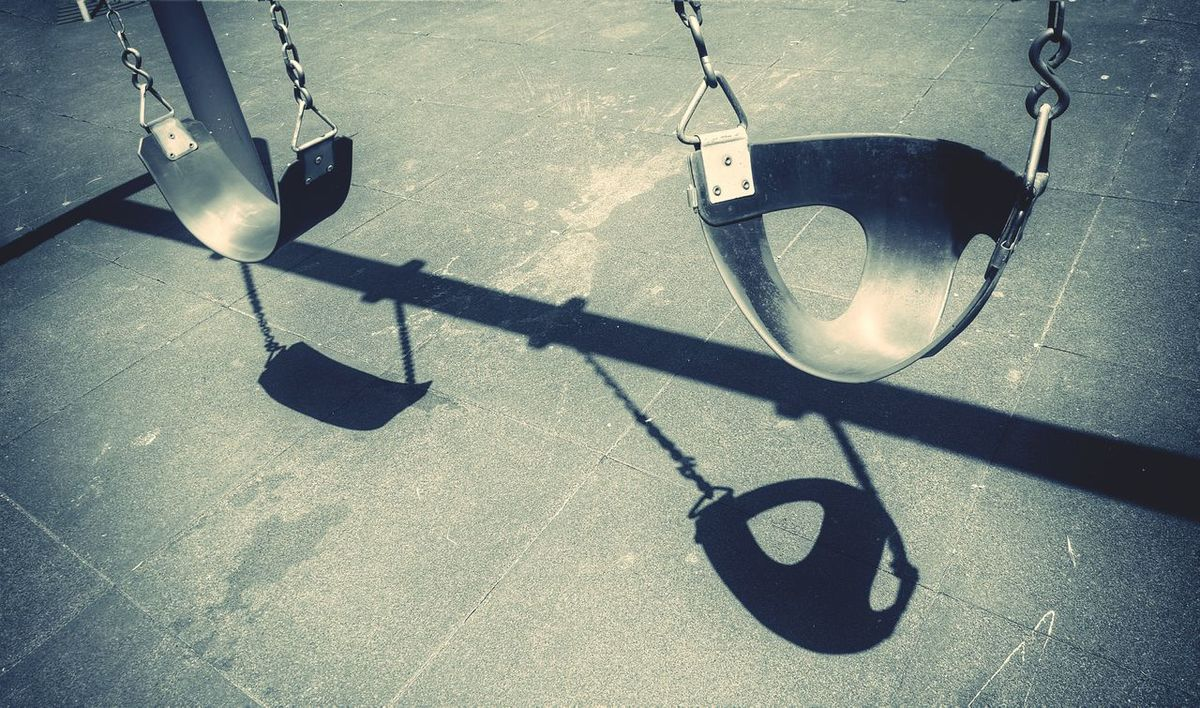 Playground Shadow Cast Lines And Shapes Light And Shadow Childs Play Childhood Swingset