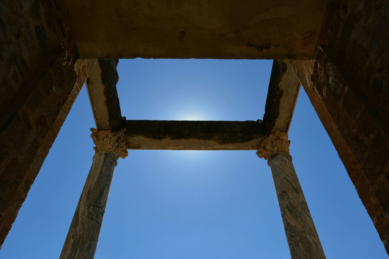 Symmetry Blue Sky No People Architecture Day Outdoors Tree Romanic