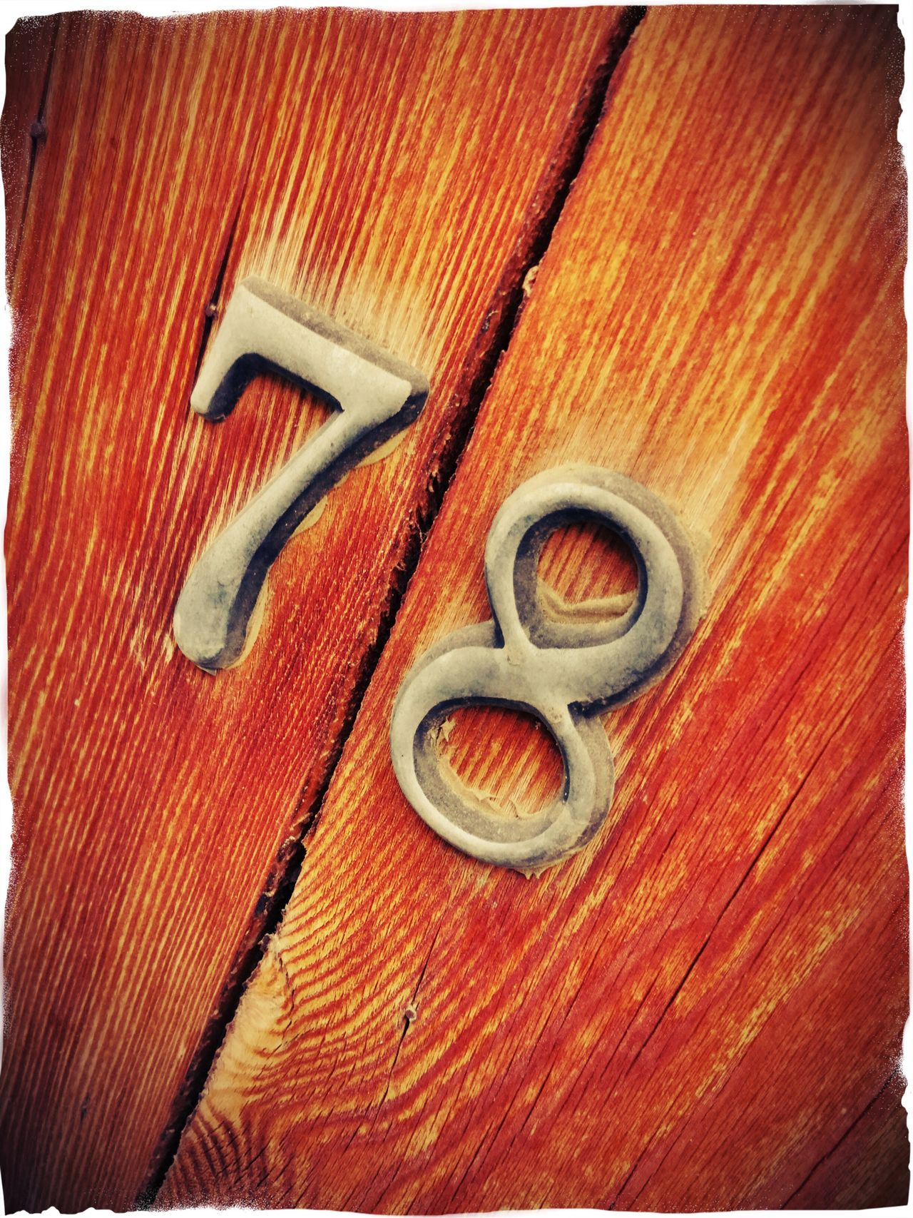 Counting Numbers Background Numberplate Wood - Material Full Frame Auto Post Production Filter Red No People Vibrant Color Number 78 Number 78 Cyprus Bark Texture Brown Color Wooden Weathered Wood Textures And Surfaces Age