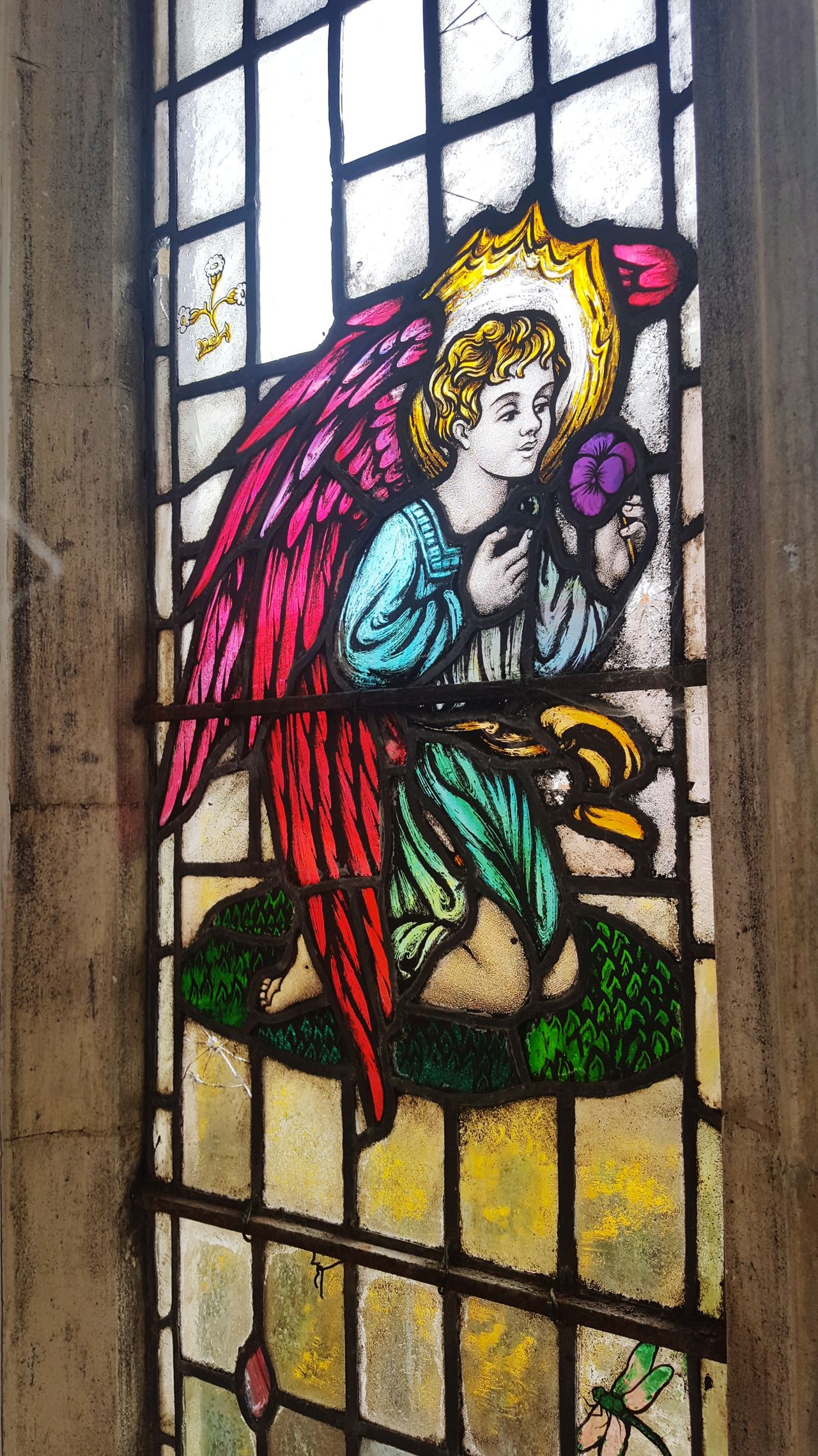 Stained Glass Stained Glass Window Angel Christ Bible Biblical  Halo Colour Beauty Antique Old Buildings Old Architecture London Essex