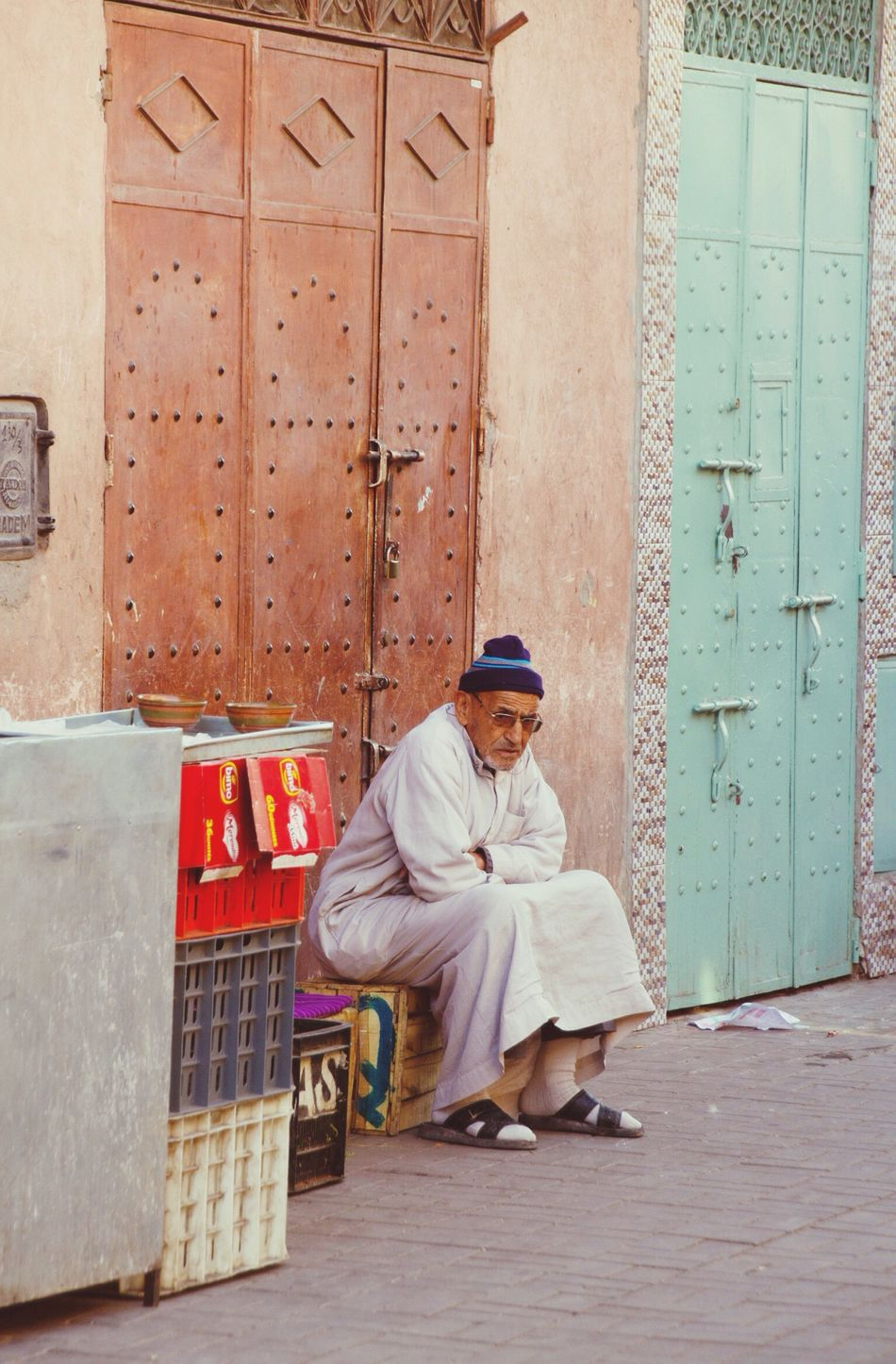 Morocco Arabian Old Man Old Man Sitting Old Man Chilling Arab Man Streetphotography Streetscene Streetlife Old Town People Watching