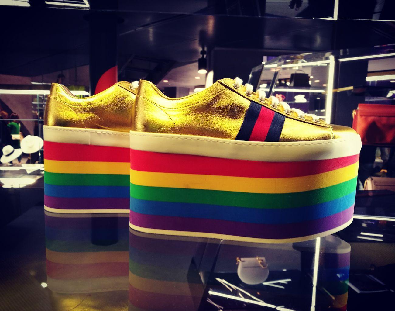 Rainbow Rainbow Colors Bowbow GUCCI Shoes Fantasy Unicorn