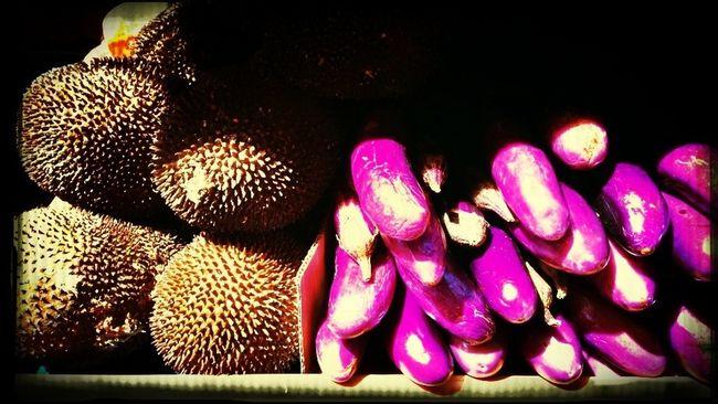 Streetphotography Vegetables Coconut & Eggplant!! Brown&purple