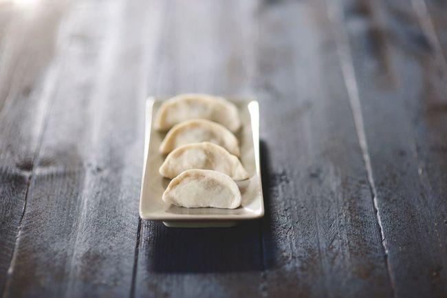 Handmade potstickers Chinese Food Pot Stickers Pork Ginger Garlic Chinese Cabbage Handmade Likemomusedtomake Comfortfood Fresh