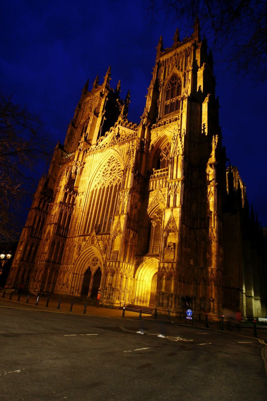 religion, place of worship, spirituality, architecture, building exterior, built structure, night, illuminated, low angle view, outdoors, sky, no people, travel destinations