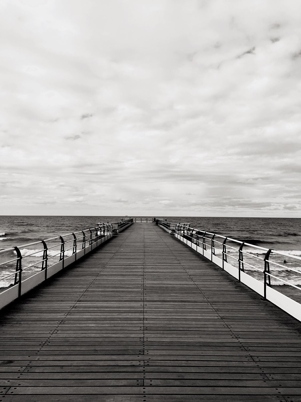 Pier Black & White Blackandwhite Photography Sea Beachphotography Wooden Pier From My Point Of View From Where I Stand