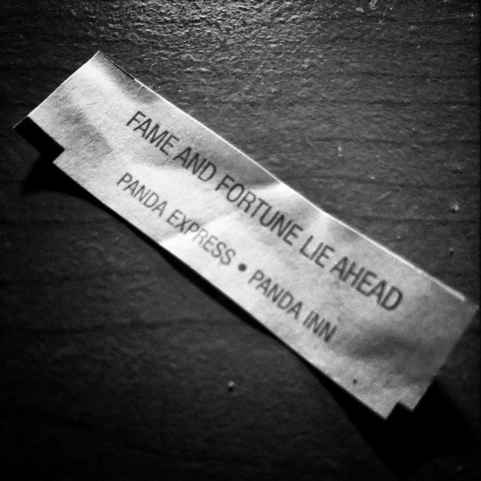 Well that seems promising... Fortune Cookie Blackandwhite