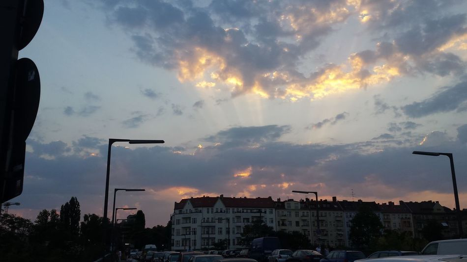 Architecture Beauty In Nature Berlin Building Exterior Built Structure Cap City City Cloud - Sky Day Nature No People Outdoors Silhouette Sky Sunset Train Yard Tree