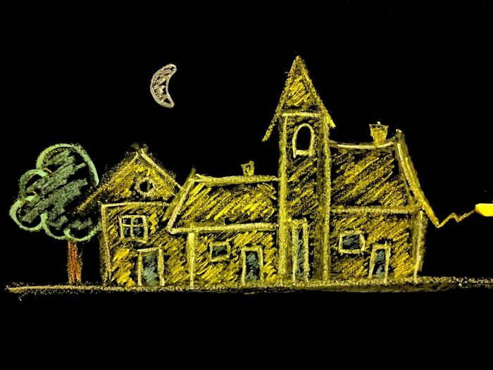 Paint The Town Yellow Yellow Color Close-up Yellow Black Wall Yellow Chalk Chalk Board Chalk Drawing