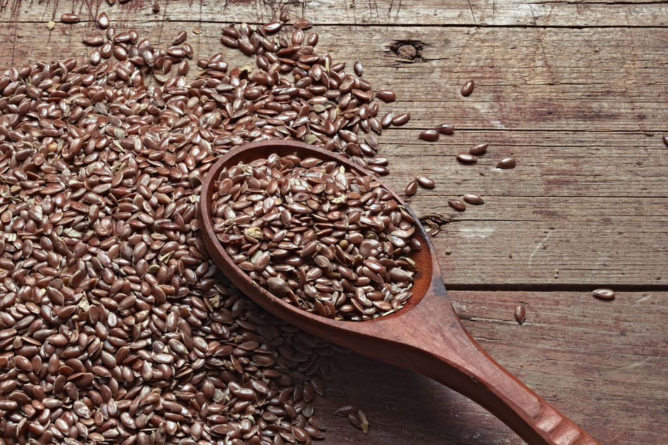Flax Flax Seeds Flaxseed Rural Rural Style Seeds Still Life Wooden Background