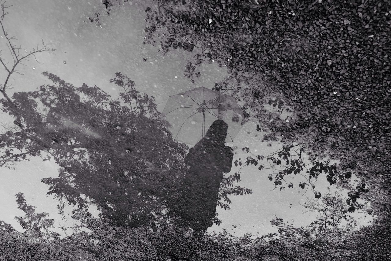 Blackandwhite Monochrome Rainy Days Reflection
